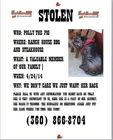 "The ""Wanted"" Poster describing Polly and what little details are known about the night of her disappearance."