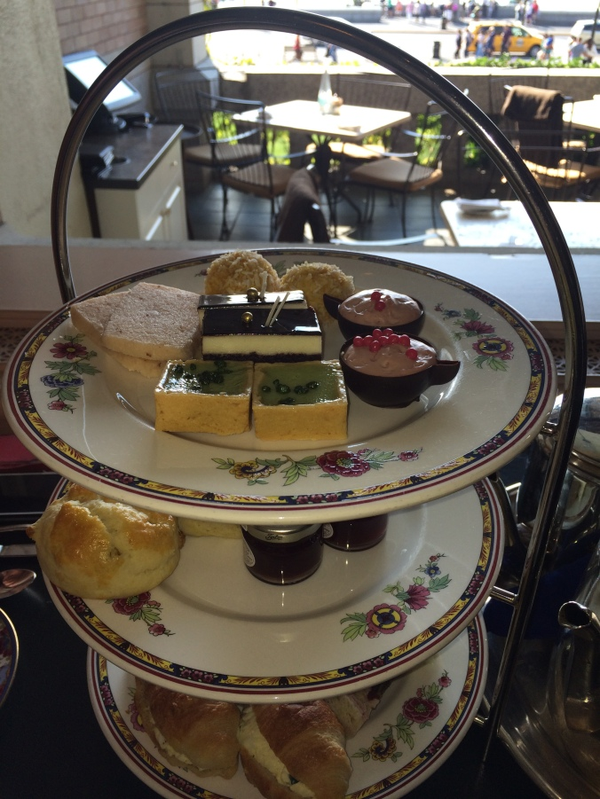 Delights on the Afternoon Tea Platter at The Fairmont Empress Tea Room
