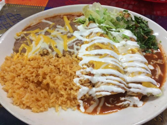 pacos tacos enchilada plate